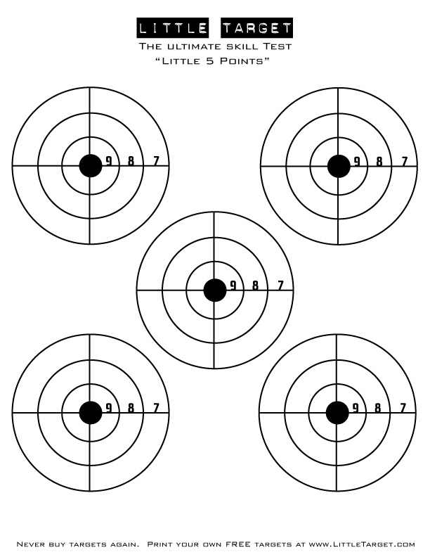 It is a graphic of Priceless Shooting Target Pdf